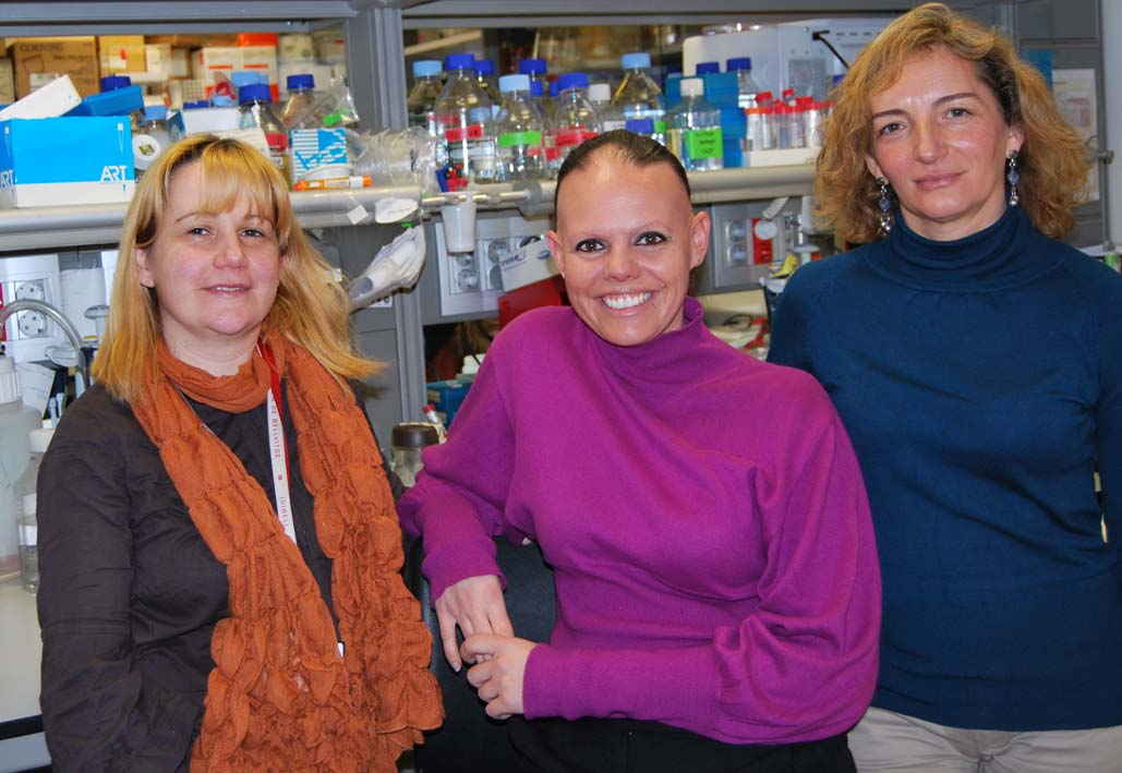 foto Researchers Ethel Queralt, Maria Berdasco and  Dori Huertas