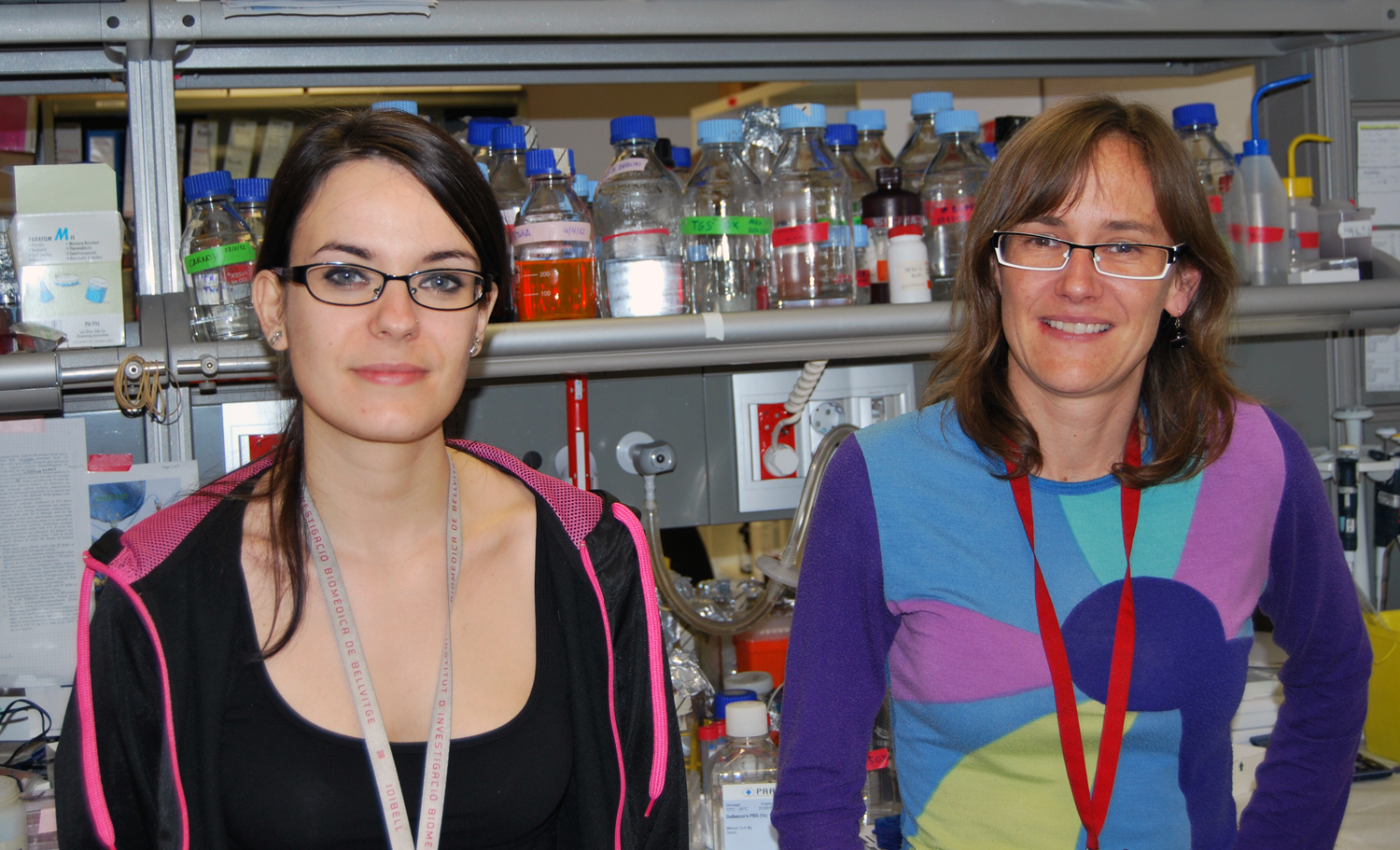 foto Left: Marta Palafox, first author. Right: Eva Gonzlez-Surez, coordinator of the study