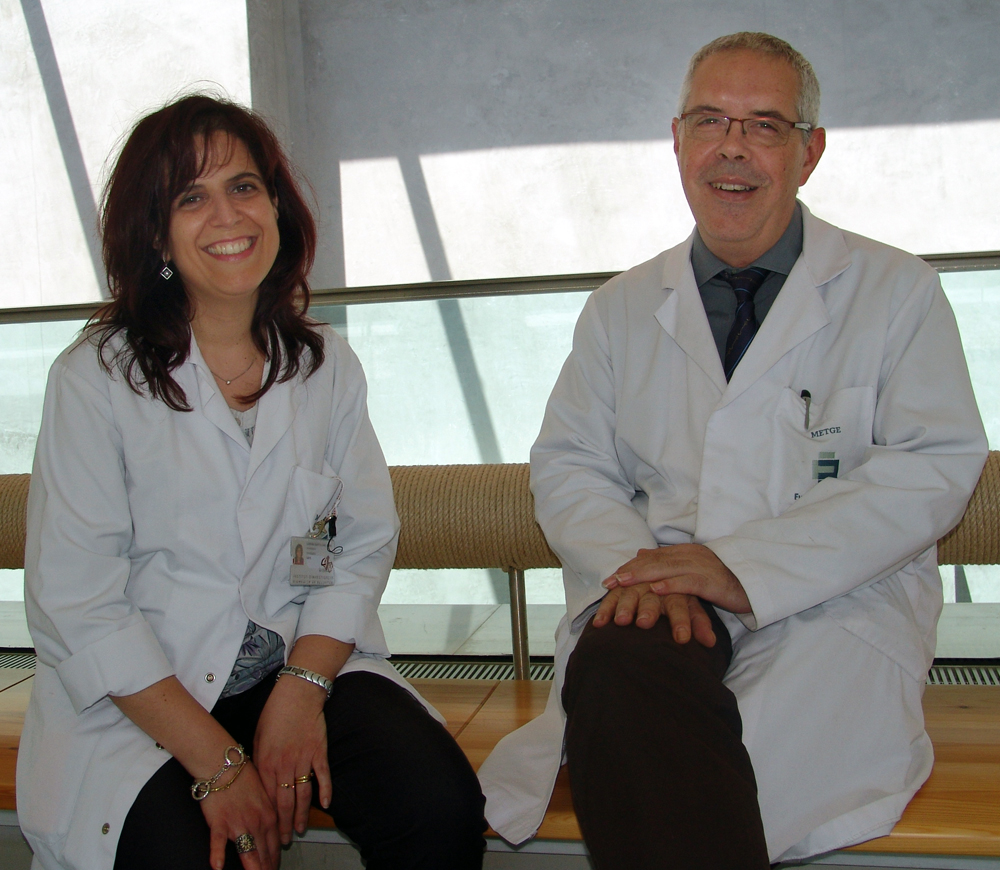 foto Sara Larriba, from IDIBELL, and Lluís Bassas, Puigvert Foundation (Picture: F. Puigvert)